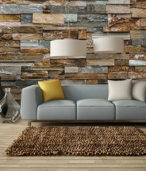 159 Colorful Stone Wall