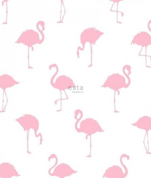 Tapet Tapetcompagniet Flamingo - Lyserød