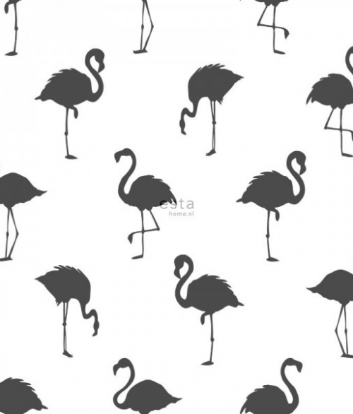 Tapet Tapetcompagniet Flamingo - Sort