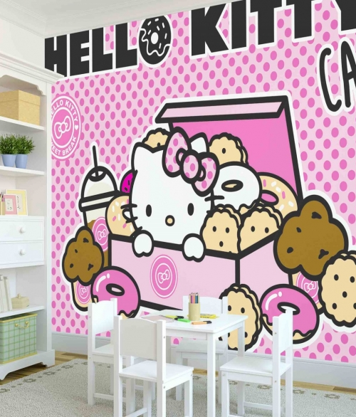 Fototapet Hello Kitty Cafe