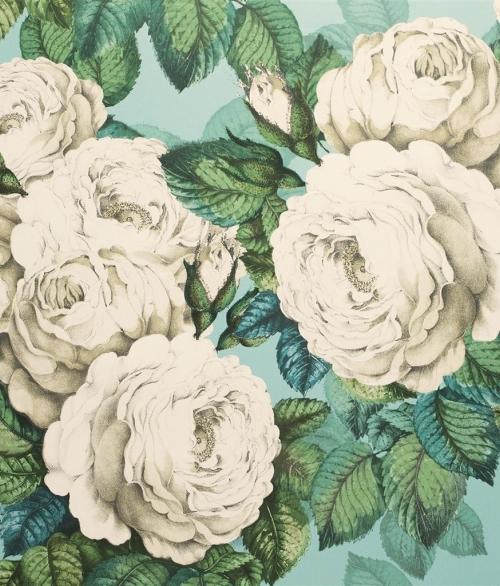 Tapet The Rose Hvid