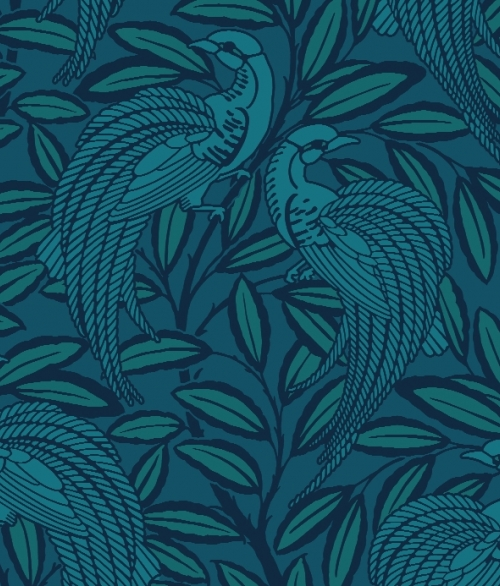 Tapet Tailfeather - Peacock Blue - A Shade Wilder