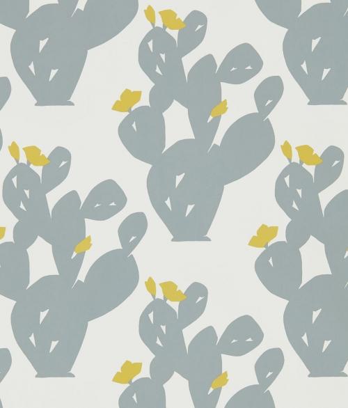 Tapet grå kaktus - Opunita
