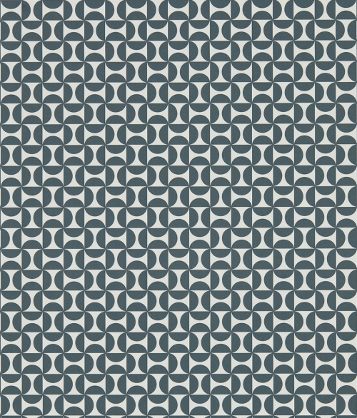 Tapet mørk grå småt geometrisk - Forma