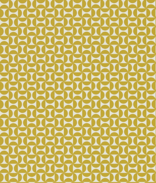 Tapet gul småt geometrisk - Forma