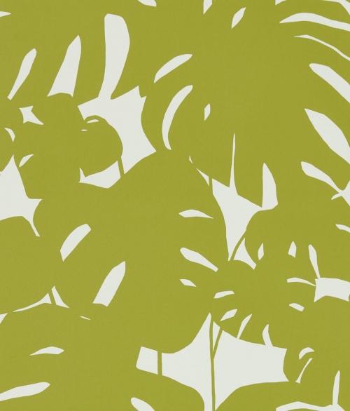 Tapet oliven grøn blade - Arizona