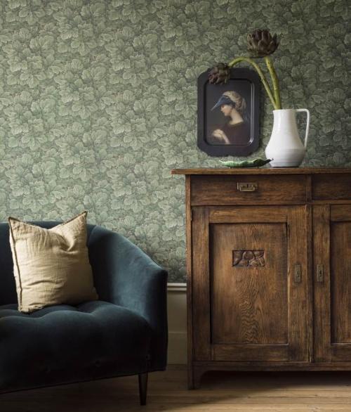 Tapet grønne blade - Waldemar - Borås