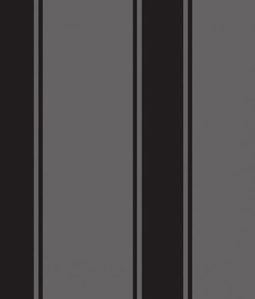 Tapet velour i sort - Palais stripe - Sophie Conran