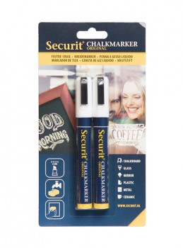 Securit Chalkmarker 2 stk. 2-6 mm.