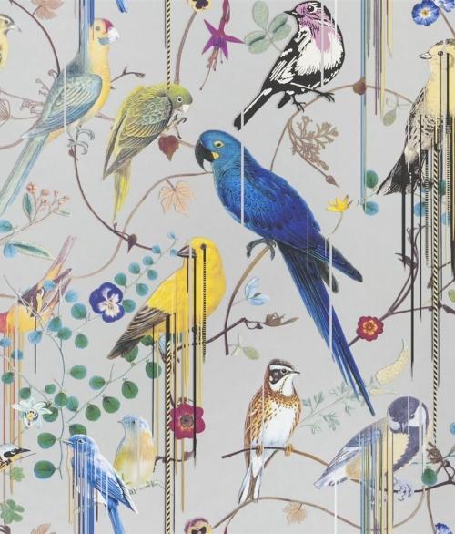 Tapet Birds Sinfonia Sølv