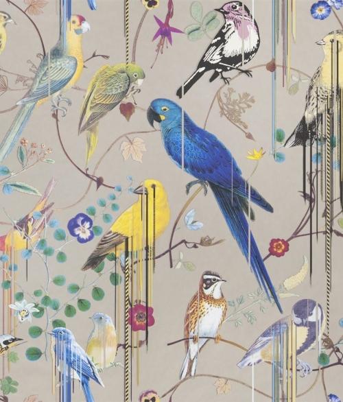 Tapet Birds Sinfonia Kobber