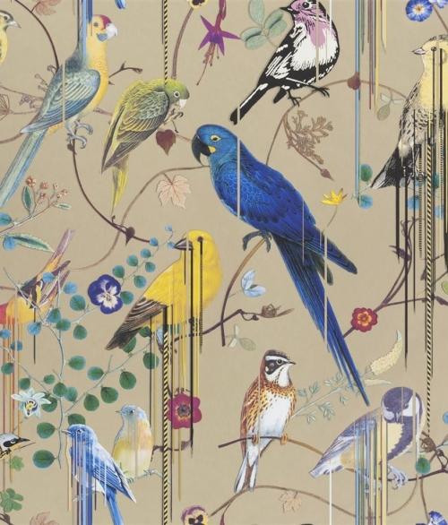 Tapet Birds Sinfonia Guld