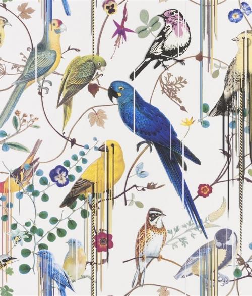 Tapet Birds Sinfonia Hvid