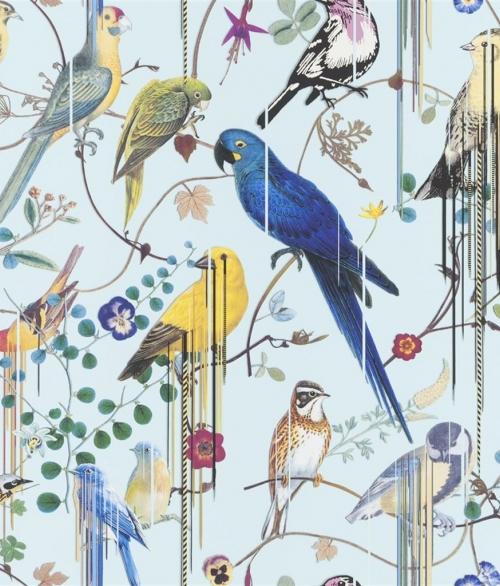 Tapet Birds Sinfonia Lyseblå