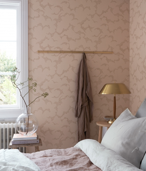 Tapet nordisk mønster lyserød - Molntuss - Borås