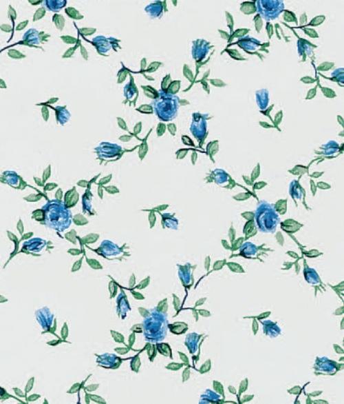 Selvklæbende Folie Blå Blomster 45x200cm