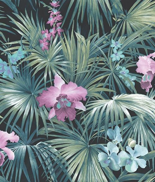 Tapet - Planter med lilla blomst
