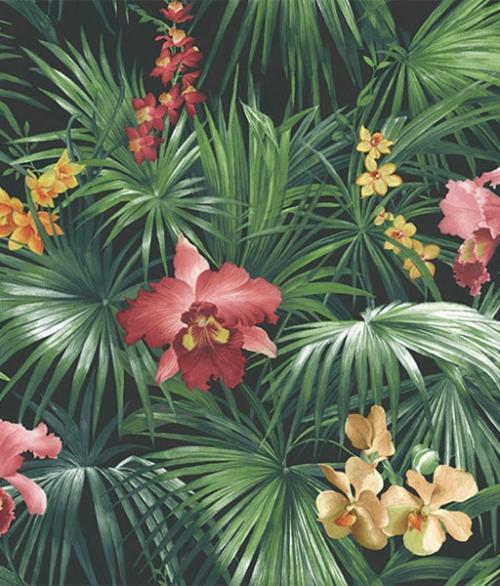 Tapet - Planter med gul blomst