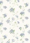 Tapet vilde blomster i blå