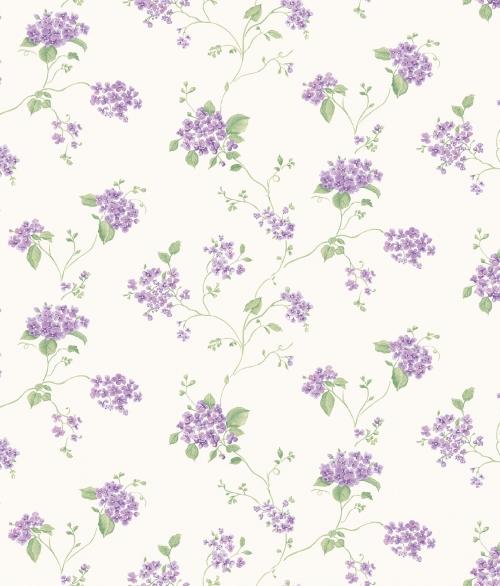Tapet vilde blomster i lilla