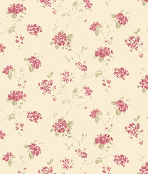 Tapet vilde blomster i retro