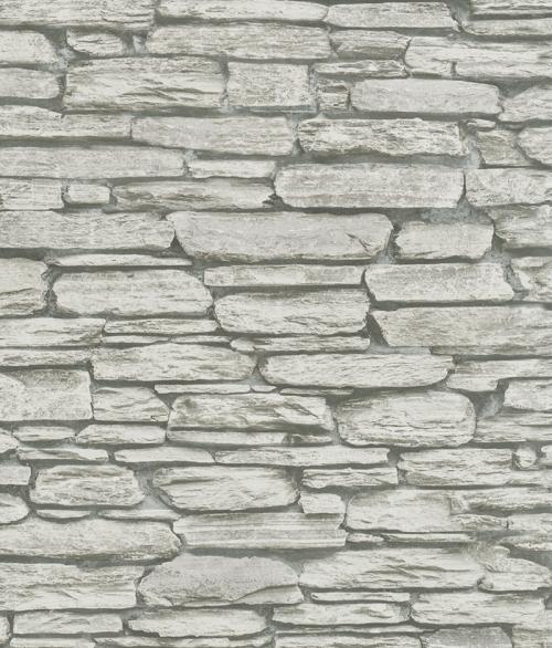 Tapet med sten i grå