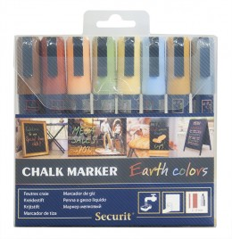 Securit Chalkmarker 8 stk. 2-6 mm.