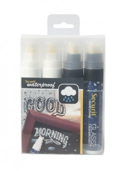 Securit Waterproof Chalkmarker 4 stk. 7-15mm