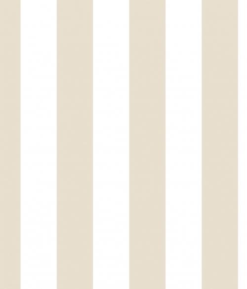 Tapet - Stribet i beige