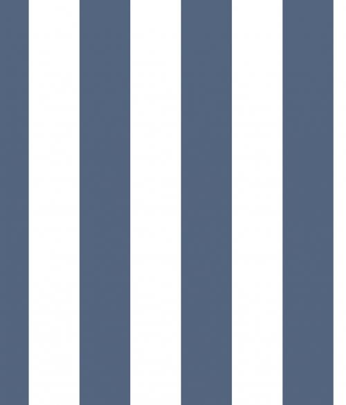 Tapet - Stribet i lys blå
