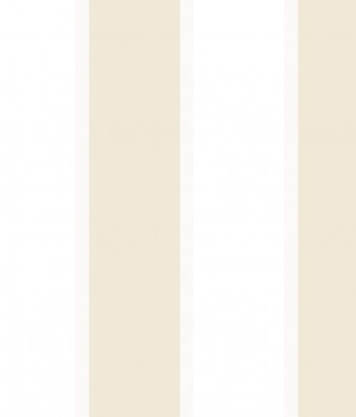 Tapet - Store og små striber i beige og metallic beige