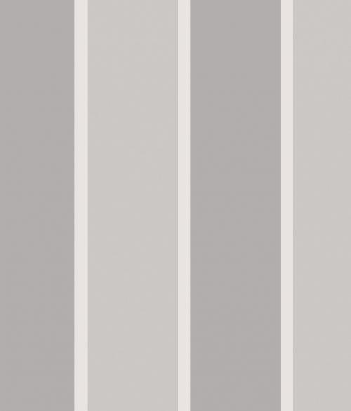 Tapet - Store og små striber i grå og sølv