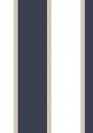 Tapet - Store og små striber i blå og metallisk beige