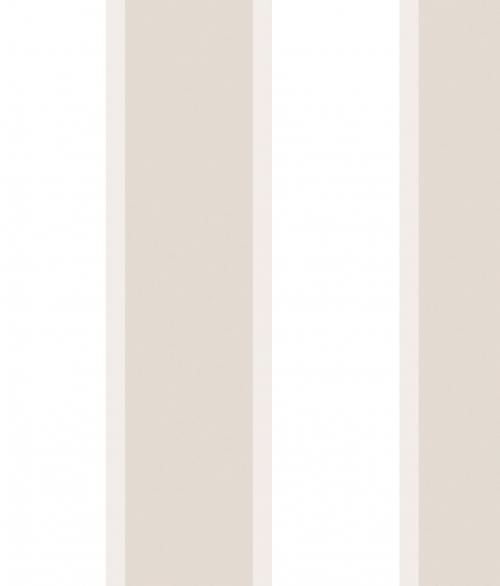 Tapet - Store og små striber i beige og grå