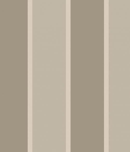 Tapet - Store og små striber i grå/creme og sølv