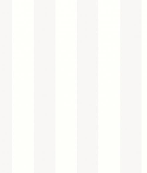 Tapet - Striber 6.7 cm i hvid
