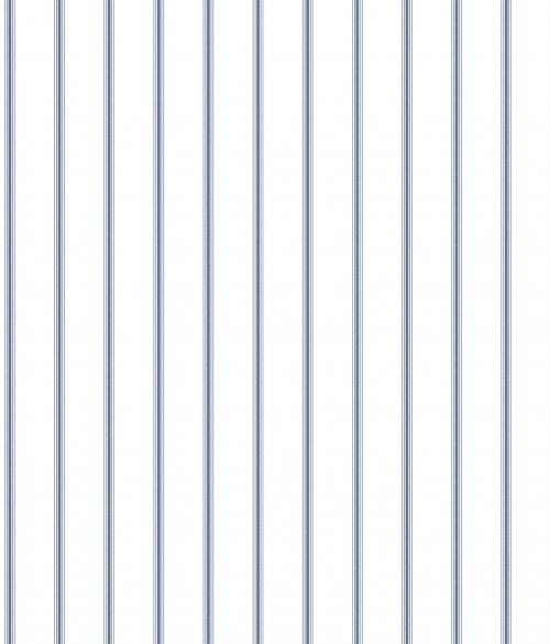Tapet - Små romantiske striber i mørk blå