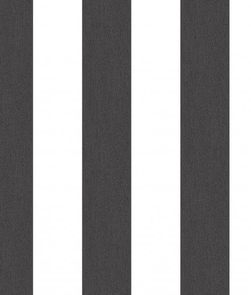 Tapet - Striber der er fadet ud i farven - sort