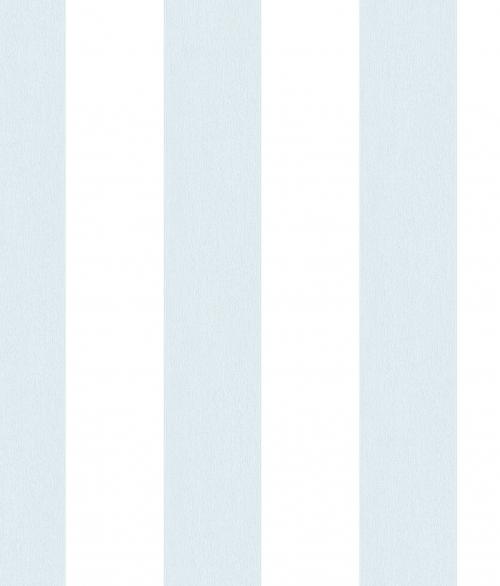 Tapet - Striber der er fadet ud i farven - lys blå