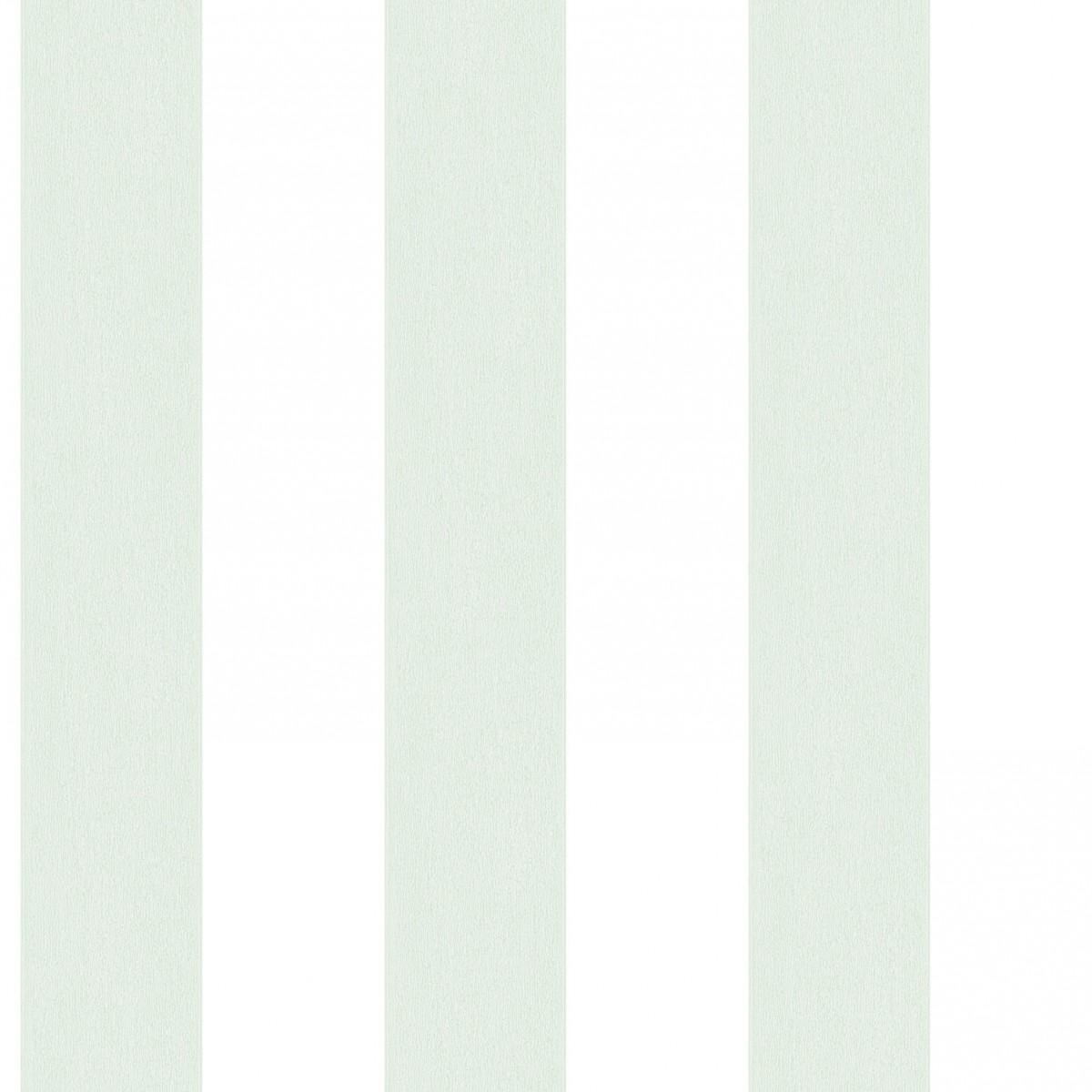 Tapet - Striber der er fadet ud i farven - lys grøn