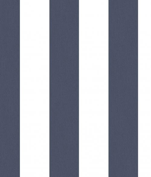 Tapet - Striber der er fadet ud i farven - blå
