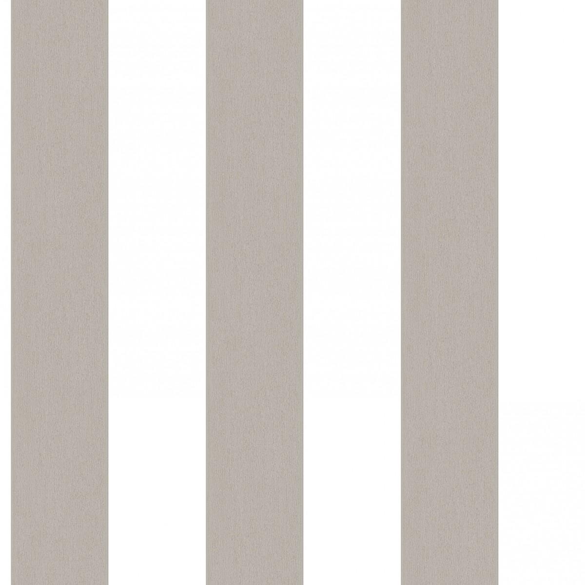 Tapet - Striber der er fadet ud i farven - grå