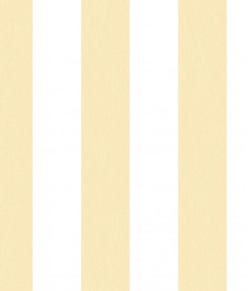Tapet - Striber der er fadet ud i farven - gul