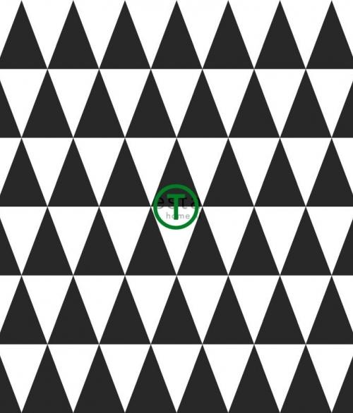 Tapet Hvide og sorte trekanter