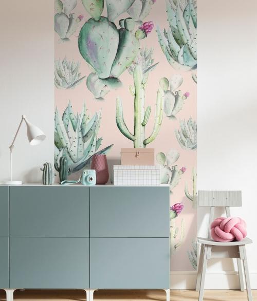 Fototapet Cactus Rose Panel