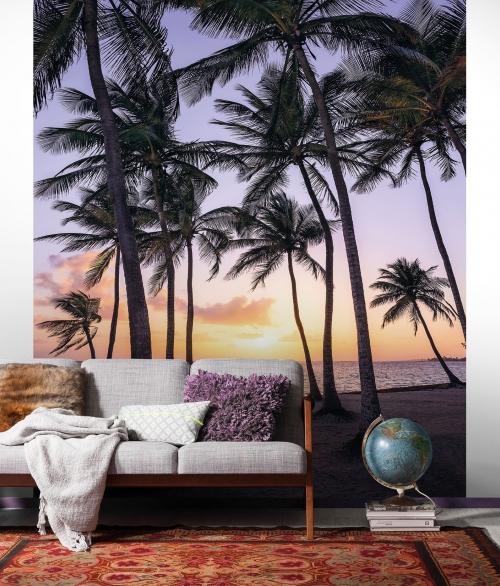Fototapet Palmtrees on Beach