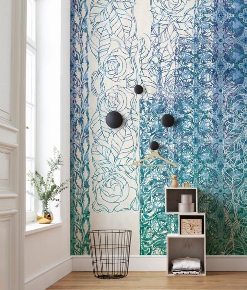 Fototapet Art Nouveau Bleu