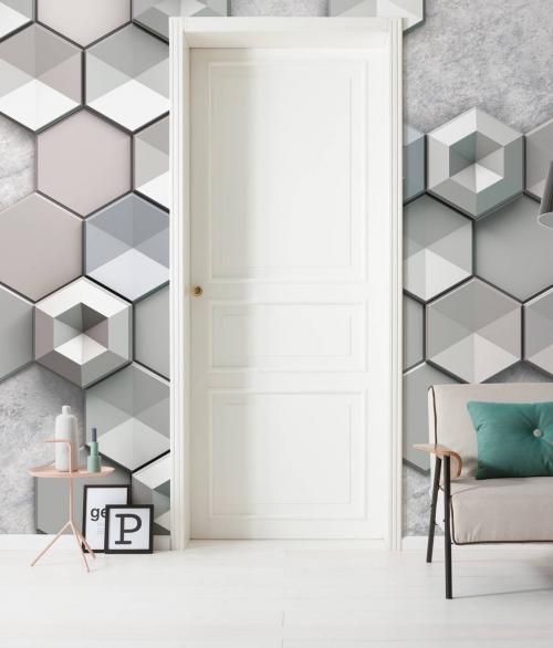 Fototapet Hexagon Concrete