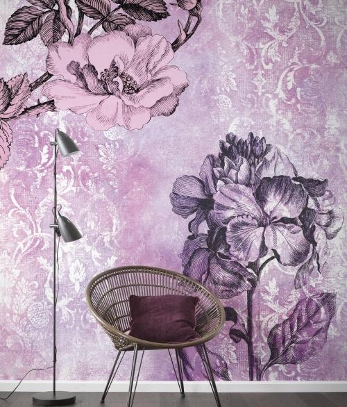 Fototapet Baroque Pink