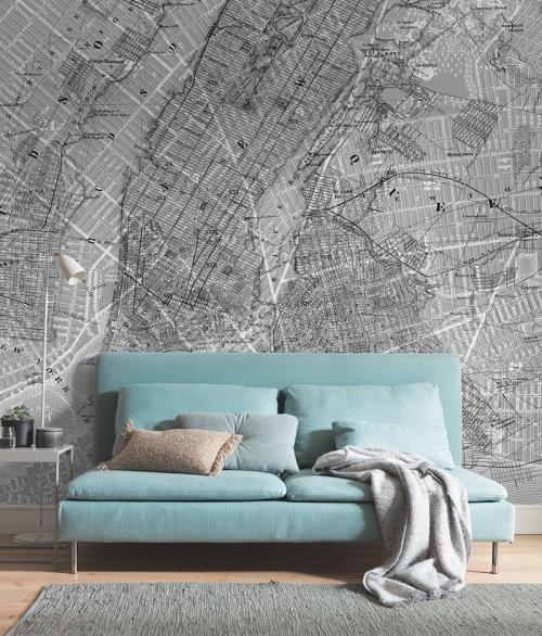 Fototapet NYC Map